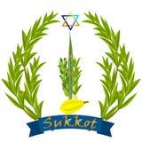 Sukkot - festa ebrea illustrazione vettoriale