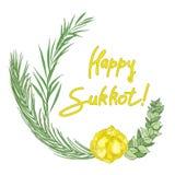 Sukkot Jewish Holiday background. royalty free illustration
