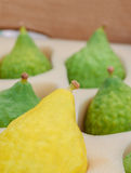 Sukkot, Sale of Etrog, green and yellow. The Jewish holiday of Sukkot Royalty Free Stock Photo
