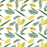 Sukkot seamless pattern background. Stock Photos