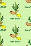 Sukkot, seamless pattern Stock Image