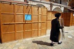 Sukkoth judisk ferie i Jerusalem Arkivbild