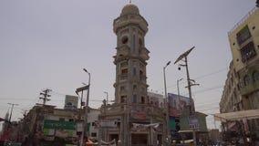 Sukkur Ghanta Ghar Clock Tower  stock video