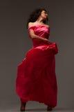 sukni długa różowa kobieta Obrazy Stock