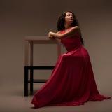 sukni długa różowa kobieta Fotografia Stock