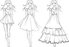 sukni mody modele Zdjęcia Royalty Free