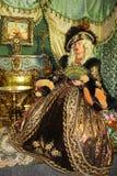 suknia jak princess rocznika kobieta zdjęcia stock