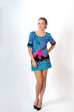 suknia kolorowy model Zdjęcie Royalty Free
