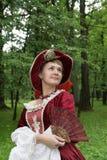 suknia pozuje czerwonej kobiety obrazy stock