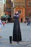 Uliczny artysta w wrocÅaw, Polska Zdjęcia Royalty Free