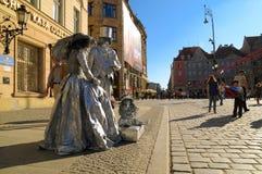 Uliczny artysta w wrocÅaw, Polska Obrazy Royalty Free
