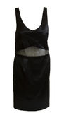 suknia wieczorowa czarny atłas Zdjęcia Royalty Free