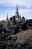 Sukothai. Ruin of temple Wat Mahatat in ancient city of Sukhothai stock photography