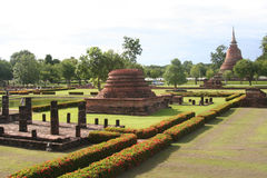 Sukothai: ancient royal city in thailand Royalty Free Stock Images