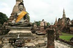 Sukothai ancient temple buddha statue thailand Stock Images
