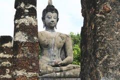 Sukothai ancient temple buddha thailand Royalty Free Stock Images