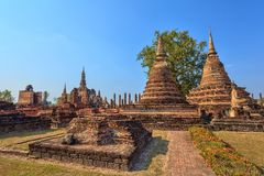 Ruin temple - Sukothai Historical Park - Thailand Royalty Free Stock Images