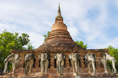 Sukothai historical park, Unesco world heritage. Chang Rop Temple ,Thailand Royalty Free Stock Photography