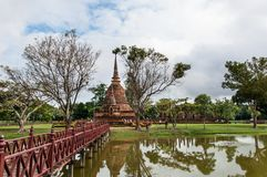 Sukothai historical park, Unesco world heritage Royalty Free Stock Image