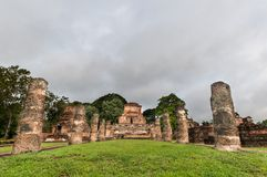 Sukothai historical park, Unesco world heritage Royalty Free Stock Photos
