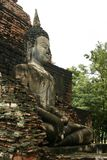 Sukothai large temple buddha side view thailand Royalty Free Stock Photography