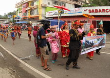 Suku Minang on Art and Cultural Festival 2017. Minangkabau people on a parade. An ethnic group indigenous to the Minangkabau Highlands of West Sumatra, Indonesia Stock Image