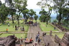 Sukuh tempel Royaltyfri Foto