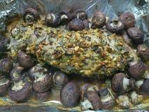 Sukulent gotująca i marynowana wieprzowina obraz stock