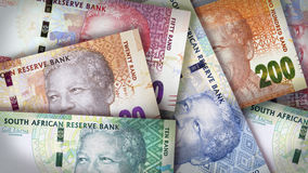 Sul - africano Rand Background Fotos de Stock