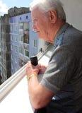 Sul balcone Fotografie Stock Libere da Diritti