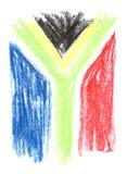 Sul - bandeira africana imagem de stock royalty free
