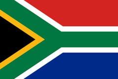 Sul - bandeira africana, disposição lisa, ilustração ilustração stock