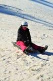 Sul bob in alpi Fotografia Stock Libera da Diritti