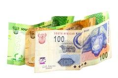 Sul - cédulas africanas em várias denominações Imagens de Stock Royalty Free