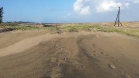 Sul - campo africano perto da praia Fotografia de Stock