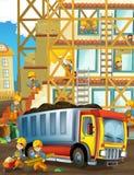 Sul cantiere - illustrazione per i bambini Fotografia Stock Libera da Diritti