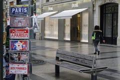 Sul Champs-Elysees un giorno piovoso Fotografia Stock Libera da Diritti