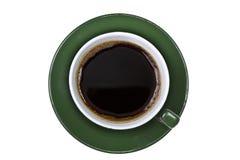 Sul colpo della tazza di caffè verde Fotografia Stock