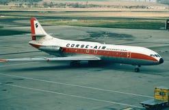 Sul construído francês internacional SE-210-IV-N Caravelle do ar de Corse Imagem de Stock