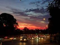 Sul da Austrália ajustado do sol dos montes de Adelaide Fotos de Stock