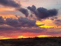 Sul da Austrália ajustado do sol pedy de Coober Foto de Stock Royalty Free