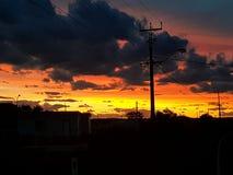 Sul da Austrália ajustado do sol pedy de Coober Fotos de Stock Royalty Free