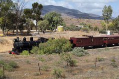 Sul da Austrália, estrada de ferro Fotografia de Stock