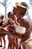 Sul - dançarino africano do tribo Zulu imagens de stock royalty free