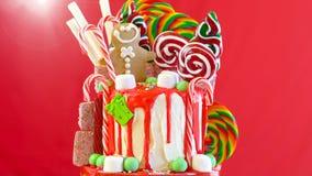 Sul dolce del gocciolamento di Natale della terra di Candy di tendenza immagini stock