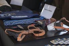 Sul - equipamento africano do serviço policial K-9 na exposição Foto de Stock Royalty Free
