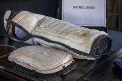 Sul - equipamento africano do serviço policial K-9 na exposição Fotografia de Stock