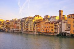 Sul fiume di Arno Fotografia Stock