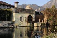 Sul fiume Meschio Fotografia Stock