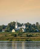 Sul fiume Volga Fotografie Stock Libere da Diritti